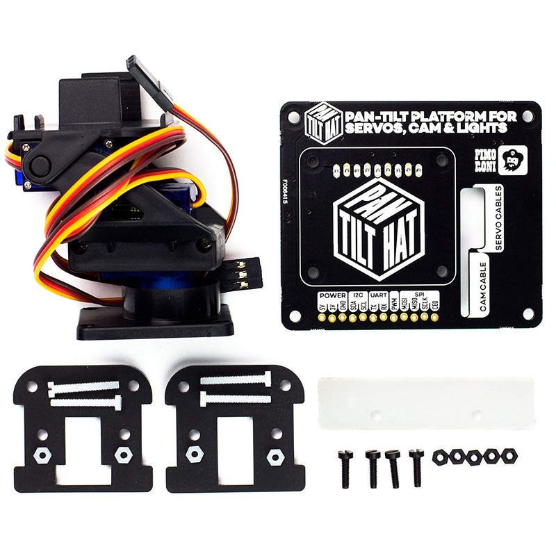 Pimoroni Pan-Tilt HAT Full Kit w/Micro Servos