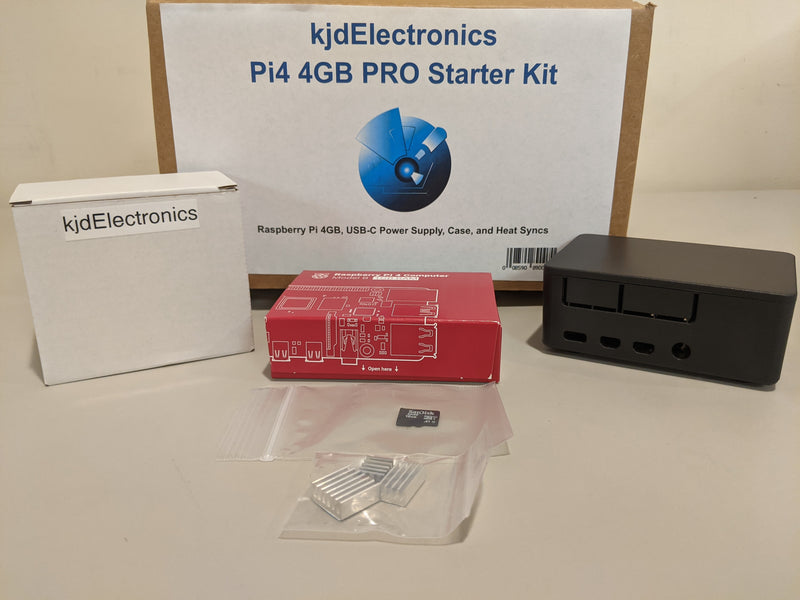 kjdElectronics Pi4 4GB PRO Starter Kit
