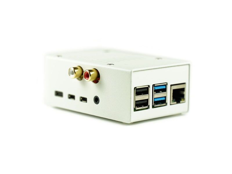 HiFiBerry Case 4 RCA/ADC White (Pi4 - Steel)