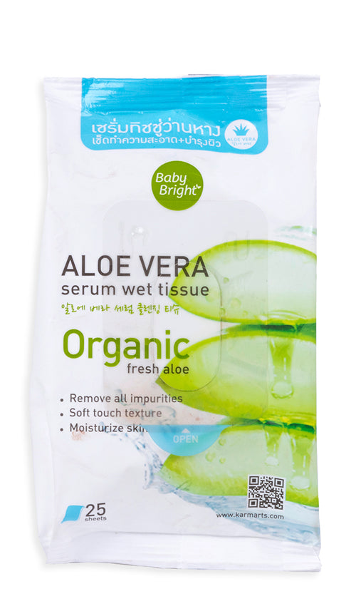 Aloe Vera Serum Wet Tissue 25 Sheets