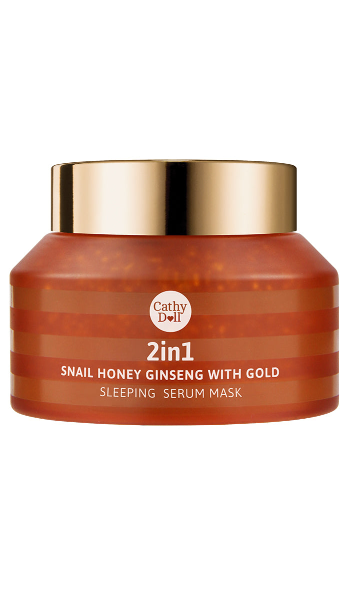 2-in-1 Snail Honey Ginseng with Gold Sleeping Serum Mask 70g