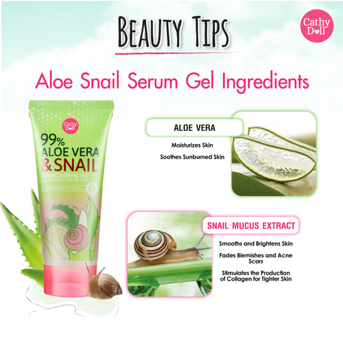 Aloe Vera & Snail Serum Soothing Gel 175g