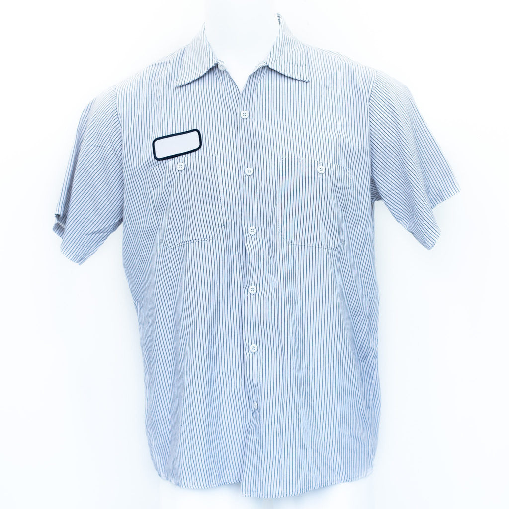 Used Striped Mechanic Shirt