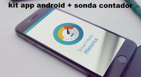 Kit Sonda descarga datos contador con APP para Móvil