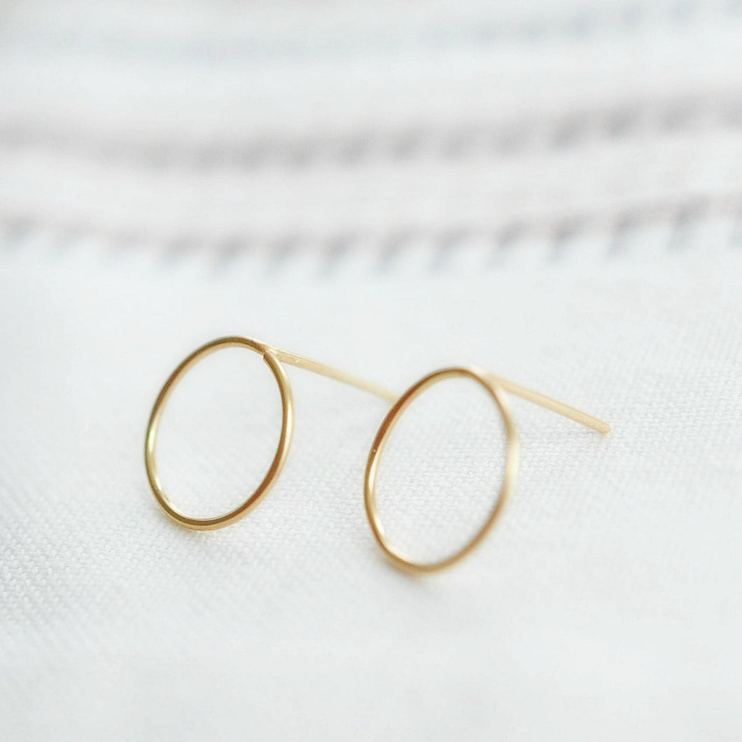 Circle Studs - Quad Espresso Jewelry