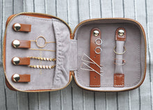 Pocket Sized Jewelry Case - Quad Espresso Jewelry