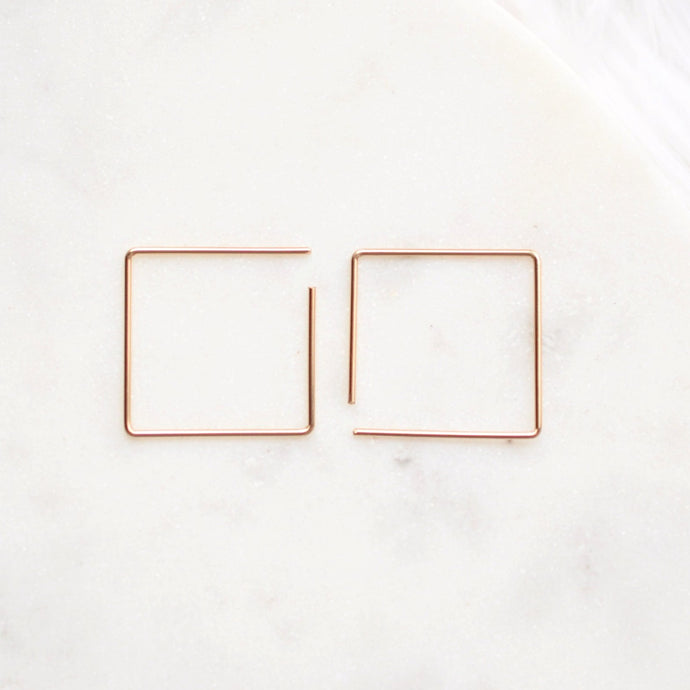 Small Square Sliders - Quad Espresso Jewelry