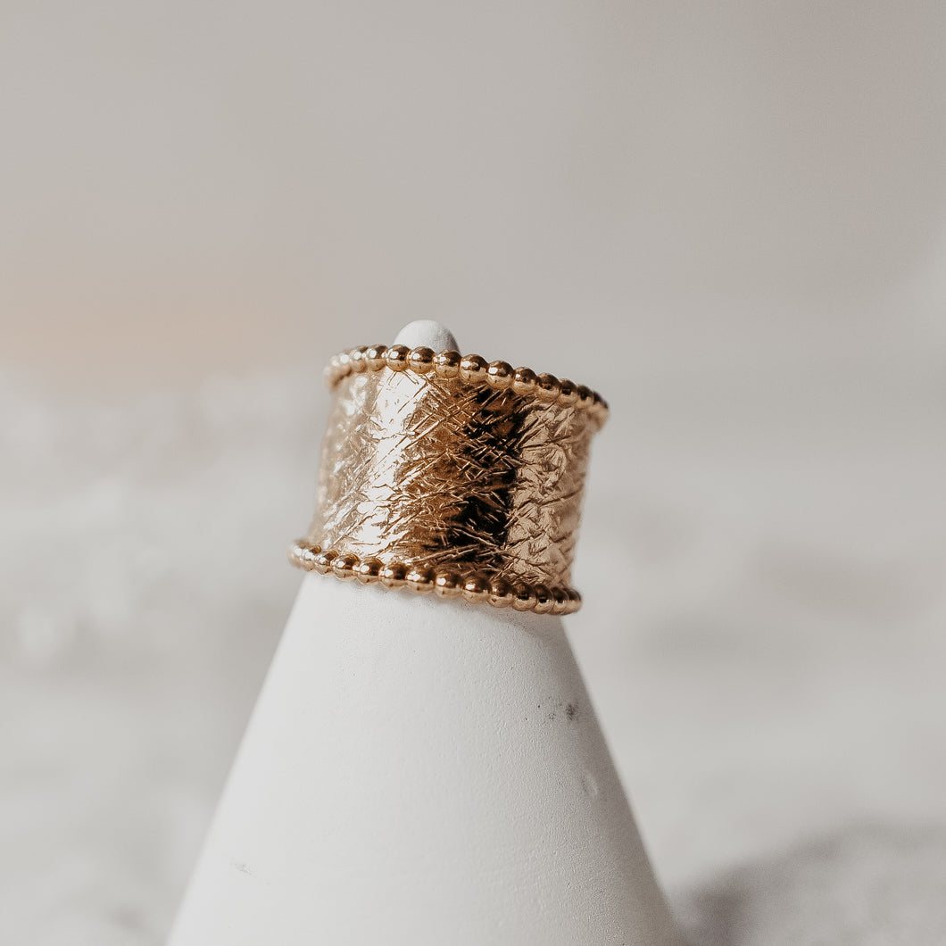 Gold Statement Band
