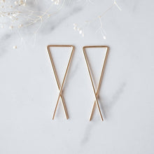 Criss Cross Earrings - Quad Espresso Jewelry