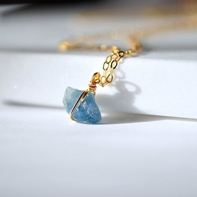 Aquamarine Stone Necklace