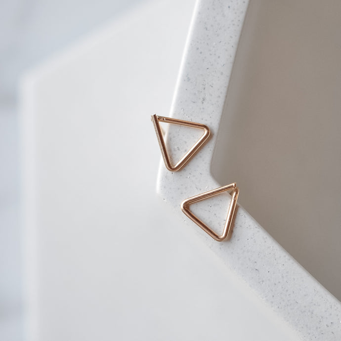 Triangle Studs - Quad Espresso Jewelry