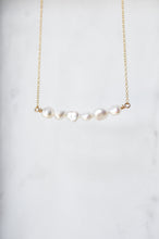 Pearl Bar Necklace - Quad Espresso Jewelry