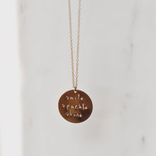 Smile Sparkle Shine Disc Necklace - Quad Espresso Jewelry