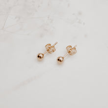 Gold Ball Studs - Quad Espresso Jewelry
