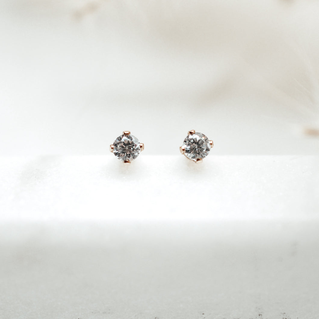 Every Day Shiny Studs - Quad Espresso Jewelry