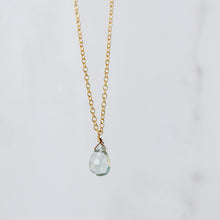 Tourmaline Drop Necklace - Quad Espresso Jewelry