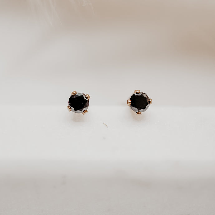 Every Day Black Studs - Quad Espresso Jewelry