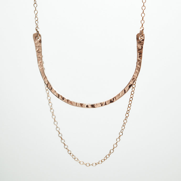 Hammered Swing Necklace - Quad Espresso Jewelry