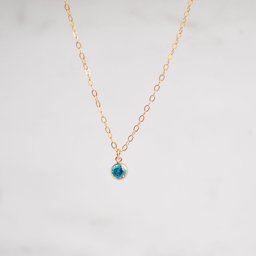 Birthstone Charm Necklace - Quad Espresso Jewelry