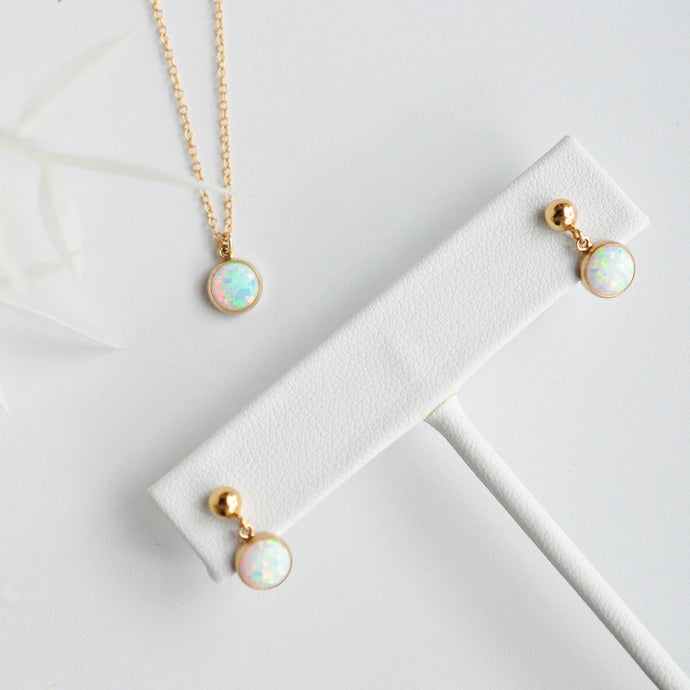 Opal Set (Necklace & Earrings)