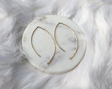Hammered Wave Earrings