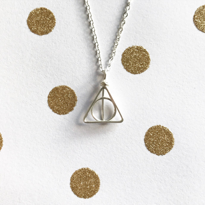 Deathly Hallows Necklace - Quad Espresso Jewelry