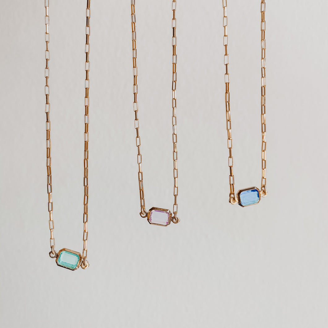 Rectangle Stone Necklace