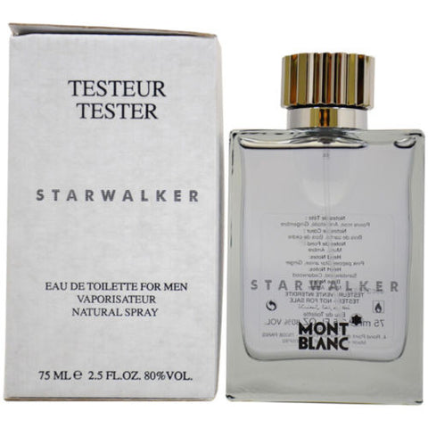 STARWALKER For Men by Mont Blanc EDT 2.5 OZ. (Tester W/Cap) - Aura Fragrances