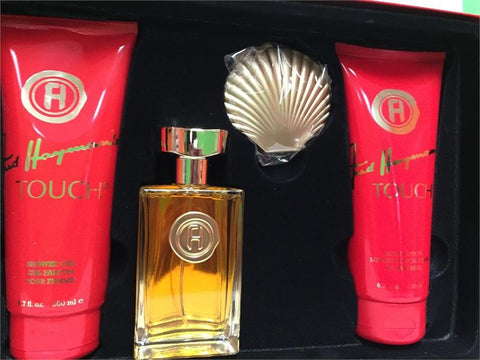 TOUCH For Women by Fred Hayman EDT 3.4oz/B. Lotion 6.7oz/ S. Gel 6.7oz/Mirror - Aura Fragrances