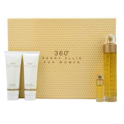 360 By Perry Ellis EDT 3.4oz/ B.L. 3.0oz/ S.G. 3.0oz/ Mini .25oz For Women - Aura Fragrances