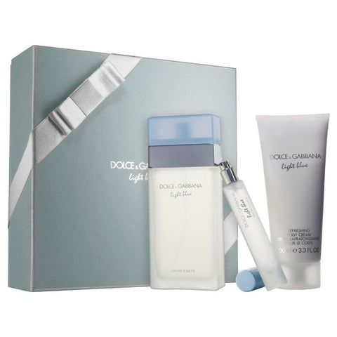 LIGHT BLUE By Dolce & Gabbana EDT 3.4oz/ B.C. 3.3oz / Mini .25oz For Women - Aura Fragrances