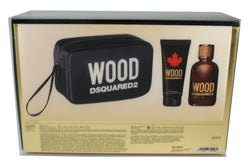 Wood Dsquared2 for Men 3.4oz EDT & 3.4oz Shower Gel & Bag