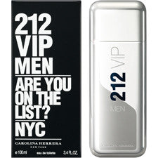 212 VIP MEN For Men by Carolina Herrera EDT-SP - Aura Fragrances
