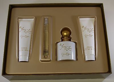 Fancy Love for Women GIFT SET 3.4oz EDP/3oz BL/3oz SG/.34oz Mini EDP - Aura Fragrances