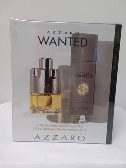 Azzaro Wanted for Men Gift Set 3.4Oz EDT/5.1Oz Deodorant