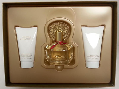 VINCE CAMUTO 3.4 OZ/2.5 OZ BODY LOTION/2.5 OZ BATH WOMEN - Aura Fragrances