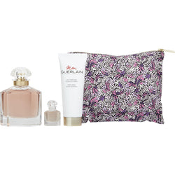 Mon Guerlain for Women 3.3oz EDP & .16oz & 2.5oz BL & Liberty Bag