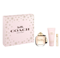 Coach Women Gift Set 3oz EDP & .25oz EDP & 3.3oz Body Lotion