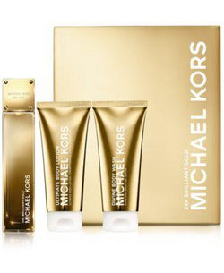 24k Brilliant Gold Michael Kors 3.4oz EDP/3.4oz BL/3.4oz BW for Women