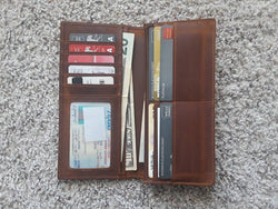 Long Wallet Unisex  Leather