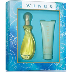 WINGS for Women Gift Set 3oz EDT/3.4oz Body Moisturizer - Aura Fragrances