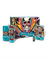 ED HARDY HEARTS & DAGGERS EDT 3.4oz/.25oz/Deo 2.75oz/SG 3.0oz For Men - Aura Fragrances