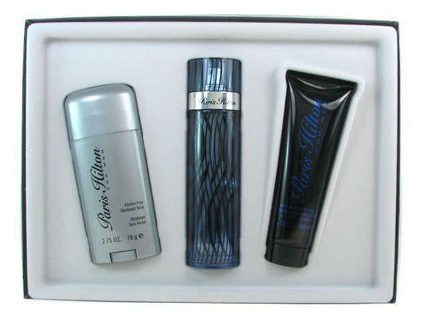 PARIS HILTON By Paris Hilton EDT 3.4oz/ AS 3.0oz/ Deodorant 2.75oz For Men - Aura Fragrances