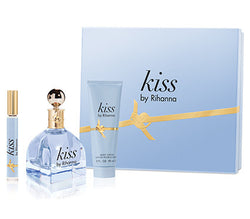 KISS for Women by Rihanna EDP Gift Set 3.4oz EDP/.2oz EDP/3oz BL - Aura Fragrances