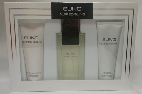 SUNG By Alfred Sung EDT 3.4oz/B.L. 2.5oz/ S.G. 2.5oz For Women - Aura Fragrances