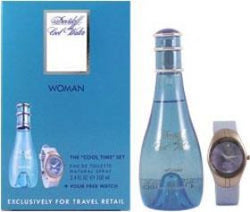 COOL WATER For Women by Davidoff EDT 3.4 OZ. / WATCH - Aura Fragrances