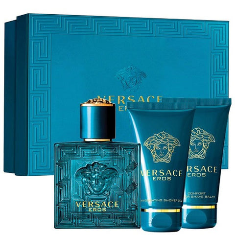 Versace Eros for Men by Versace 3.4oz EDT/3.4oz SG/3.4oz AS