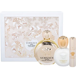 Versace Eros for Women 3.4oz EDP/3.4oz Bl/.3oz Mini