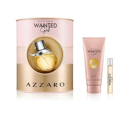 Azzaro Wanted Girl  EDP Gift Set 2.7oz & .2 Travel & 3.4 Body Lotion