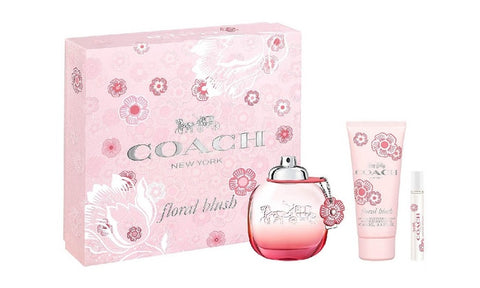 Coach Floral Blush Gift Set 3oz EDP & 3.3oz BL & .25oz Mini
